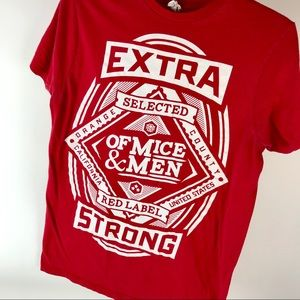 Unisex Of Mice & Men Extra Strong Red Label Shirt
